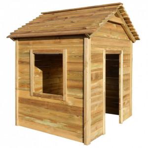 Casă de joacă în aer liber, 123x120x146 cm, lemn de pin FSC