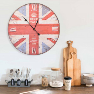 Ceas de perete vintage UK, 60 cm