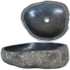 Chiuvetă din piatră de râu, 30-37 cm, ovală