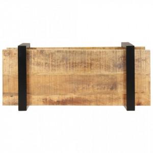 Comodă TV, 90 x 40 x 40 cm, lemn de mango nefinisat
