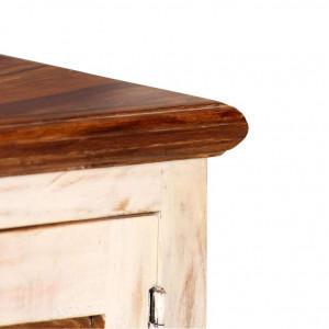 Comodă TV din lemn masiv de sheesham și mango, 120x30x40 cm