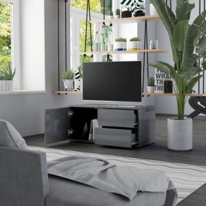 Comodă TV, gri extralucios, 80 x 34 x 36 cm, PAL