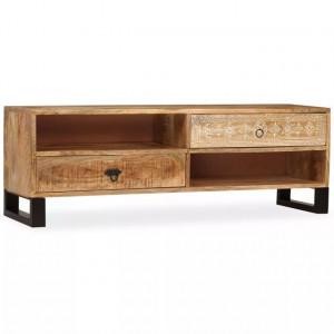 Comodă TV, lemn masiv de mango, 120 x 30 x 40 cm
