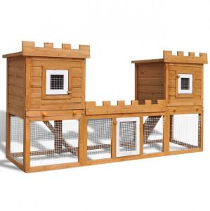 Cușcă de iepuri cușcă animale de companie dublă de exterior
