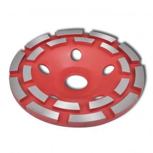 Disc diamantat dublu tip ceașcă pentru șlefuire beton 125 mm