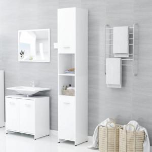 Dulap de baie, alb, 30 x 30 x 183,5 cm, PAL