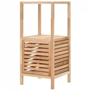 Dulap depozitare baie, 39,5x35,5x86 cm, lemn de nuc masiv