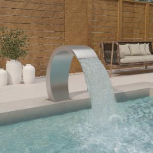 Fântână de piscină cu LED 30x60x70 cm, oțel inoxidabil 304