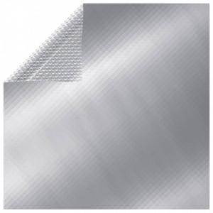 Folie solară plutitoare piscină dreptunghiular argintiu 8x5m PE