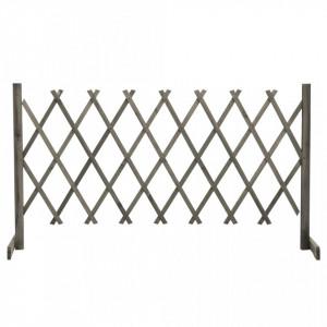 Gard cu zăbrele de grădină, gri, 150x80 cm, lemn masiv de brad