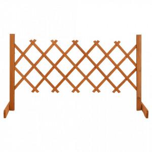 Gard cu zăbrele de grădină, portocaliu, 120x60 cm, lemn de brad