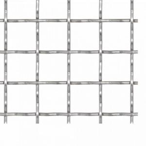 Gard de sârmă sertizată, 100x85 cm, 11x11x2 mm, oțel inoxidabil