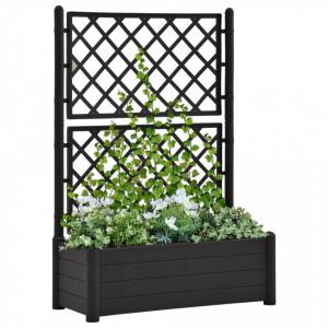 Jardinieră de grădină cu spalier, antracit, 100x43x142, PP