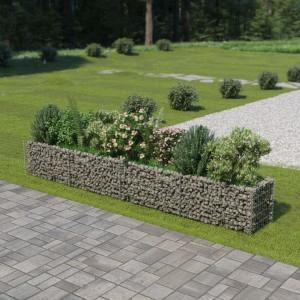 Jardinieră gabion, oțel galvanizat, 360 x 50 x 50 cm