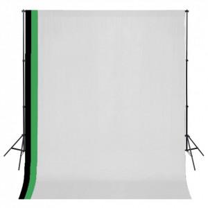 Kit studio foto cu 3 decoruri și ramă ajustabilă, 3 x 3 m