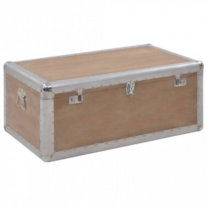 Ladă de depozitare, maro, 91 x 52 x 40 cm, lemn masiv de brad
