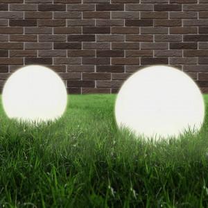 Lămpi bol cu LED, 2 buc, sferice, 40 cm, PMMA
