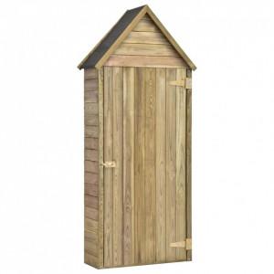 Magazie unelte de grădină cu ușă 77x28x178 cm lemn pin tratat