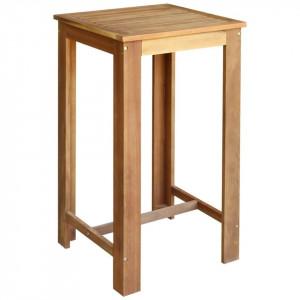 Masă de bar, lemn masiv de salcâm, 60x60x105 cm