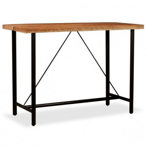 Masă de bar, lemn masiv de sheesham, 150 x 70 x 107 cm