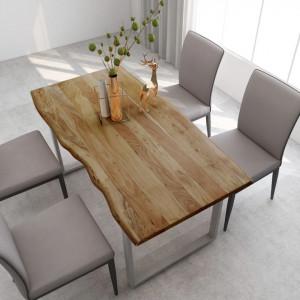 Masă de bucătărie, 160 x 80 x 76 cm, lemn masiv de acacia