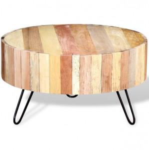Masă de cafea din lemn reciclat de esență tare