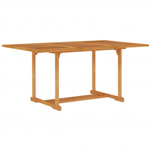 Masă de grădină, 150x90x75 cm, lemn masiv de tec