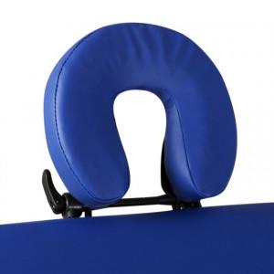 Masă de masaj pliabilă cadru din aluminiu 3 părți Albastru