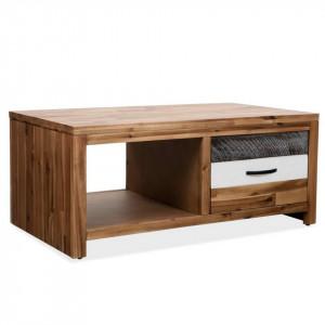 Măsuță de cafea, lemn masiv de acacia, 90 x 50 x 37,5 cm