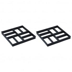 Matrițe pentru pavaje, 2 buc., 40 x 40 x 4 cm, plastic