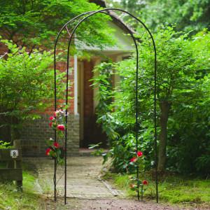 Nature Arcadă de grădină, negru, 100 x 37 x 230 cm, metal