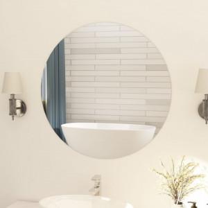Oglindă fără ramă, 80 cm, sticlă, rotund