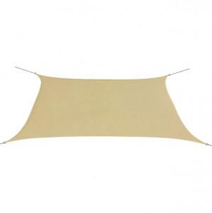 Parasolar din țesătură oxford, dreptunghiular, 2 x 4 m, bej