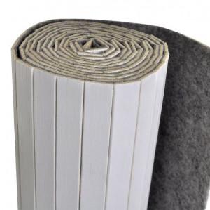 Paravan de cameră din bambus, alb, 250 x 195 cm,