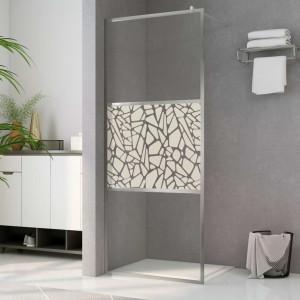 Paravan de duș walk-in, 80 x 195 cm, sticlă ESG, model piatră