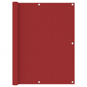 Paravan pentru balcon, roșu, 120x300 cm, țesătură Oxford