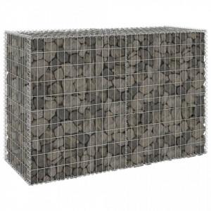 Perete gabion cu capace, 150 x 60 x 100 cm, oțel galvanizat