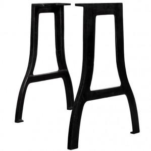 Picioare masă de sufragerie 2 buc. Cadru în A Fontă