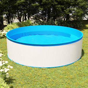 Piscină cu valuri, alb, 350x90 cm