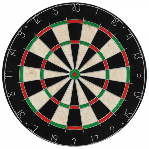 Placă de darts profesională din sisal, cu dulap și 6 săgeți