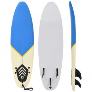 Placă de surf, 170 cm, albastru și crem