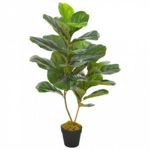 Plantă artificială ficus cu ghiveci, verde, 90 cm