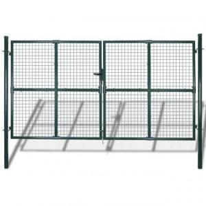 Poartă gard dublă din oțel acoperit cu pulbere