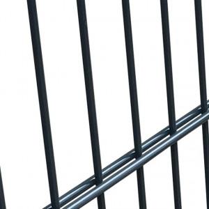 Poartă pentru gard din oțel, 106 x 150 cm, antracit