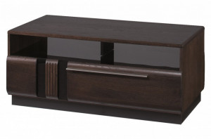 Porti 41 (masuta de cafea 1 s) oak czecoladowy/black glass