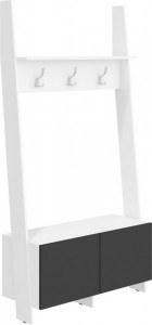 Rack Rac-10 (Cuier) White/Black High Gloss