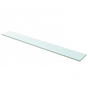 Raft din sticlă transparentă, 110 x 15 cm