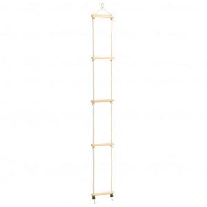 Scară din frânghie pentru copii, 30x168 cm, lemn masiv și PE