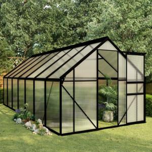 Seră, antracit, 8,17 m², aluminiu