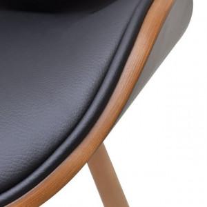 Set 2 scaune cu cadru din lemn curbat, fără cotiere